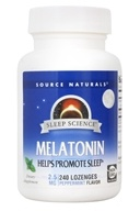 Image of Source Naturals - Melatonin Sublingual Peppermint 2.5 mg. - 240 Tablets
