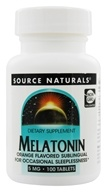 Image of Source Naturals - Melatonin Sublingual Orange 5 mg. - 100 Tablets