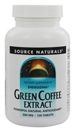 Source Naturals - Green Coffee Extract Energizer - 120 Tablets (with GCA)