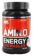 Optimum Nutrition - Essential Amino Energy Chewables Fruit Punch - 75 Chewables by Optimum Nutrition