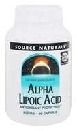 Source Naturals - Alpha Lipoic Acid 600 mg. - 60 Capsules (021078024385)