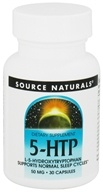 Source Naturals - 5-HTP L-5-Hydroxytryptophan 50 mg. - 30 Capsules by Source Naturals
