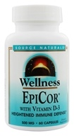 Image of Source Naturals - EpiCor with Vitamin D3 500 mg. - 60 Capsules