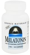 Source Naturals - Melatonin 3 mg. - 120 Vegetarian Capsules