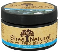 Shea Natural - 100% Whipped Shea Butter With Eucalyptus Essential Oil - 3.2 oz. CLEARANCE PRICED (658509521047)
