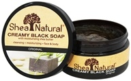 Shea Natural - 100% Creamy Black African Soap With Moisturizing Shea Butter - 8 oz.