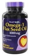 Natrol - Omega-3 Flax Seed Oil 1000 mg. - 120 Softgels by Natrol