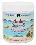 Nordic Naturals - Nordic Omega-3 Gummies With Purified Fish Oil Tangerine 82 mg. - 120 Gummies