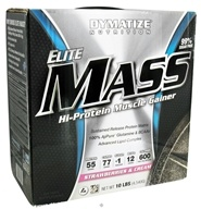 Image of Dymatize Nutrition - Elite Mass Gainer Hi-Protein Muscle Gainer Strawberries and Cream - 10 lbs. DAILY DEAL