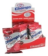 GU Energy - Chomps Pure Performance Energy Chews with Caffeine Strawberry - 2.1 oz.