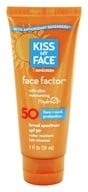 Image of Kiss My Face - Face Factor Face and Neck Sunscreen with Hydresia 50 SPF - 2 oz. LUCKY DEAL