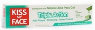 Kiss My Face - Triple Action Toothpaste Peppermint - 3.4 oz. (028367840305)