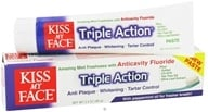 Kiss My Face - Triple Action with Peppermint Toothpaste with Anticavity Fluoride Amazing Mint - 3.4 oz.