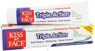 Kiss My Face - Triple Action with Peppermint Toothpaste with Anticavity Fluoride Amazing Mint - 3.4 oz. by Kiss My Face