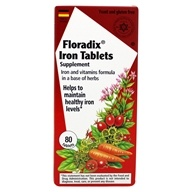 Flora - Floradix Iron Tablets - 80 Tablets by Flora