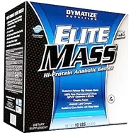 Image of Dymatize Nutrition - Elite Mass Gainer Hi-Protein Muscle Gainer Double Chocolate - 10 lbs.