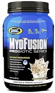 Gaspari Nutrition - MyoFusion Probiotic Series Protein Cookies And Cream - 2 lbs.