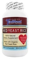 Traditional Supplements - Red Yeast Rice Dietary Supplement 600 mg. - 240 Capsules