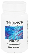 Thorne Research - DHEA 5 mg. - 90 Vegetarian Capsules - $10.65