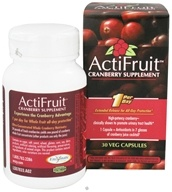 Image of Enzymatic Therapy - ActiFruit Cranberry Supplement 500 mg. - 30 Vegetarian Capsules