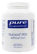 Pure Encapsulations - Nutrient 950 with Metafolin L-5-MTHF without Iron - 360 Vegetarian Capsules - $75.20