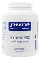 Pure Encapsulations - Nutrient 950 with Metafolin L-5-MTHF without Iron - 360 Vegetarian Capsules, from category: Professional Supplements