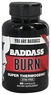 Baddass Nutrition - Burn Super Thermogenic - 60 Capsules CLEARANCE PRICED, from category: Sports Nutrition