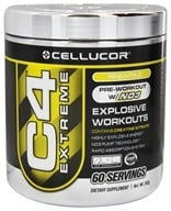 Cellucor - C4 Extreme Pre-Workout with NO3 Pineapple 60 Servings - 342 Grams by Cellucor