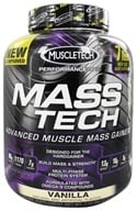 Image of Muscletech Products - Mass Tech Performance Series Advanced Muscle Mass Gainer Vanilla - 7 lbs.