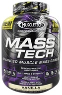 Muscletech Products - Mass Tech Performance Series Advanced Muscle Mass Gainer Vanilla - 7 lbs. (631656703160)