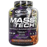 Image of Muscletech Products - Mass Tech Performance Series Advanced Muscle Mass Gainer Milk Chocolate - 7 lbs.