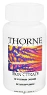 Thorne Research - Iron Citrate - 60 Vegetarian Capsules - $7.65