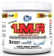 BPI Sports - 1 M.R Ultra Concentrated Pre-Workout Powder - 28 Servings Blue Raspberry - 140 Grams CLEARANCE PRICED by BPI Sports
