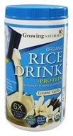 Growing Naturals - Rice Milk Powder Creamy Vanilla - 15.2 oz. by Growing Naturals