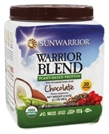 Sun Warrior - Warrior Blend Raw Protein Chocolate - 17.6 oz. by Sun Warrior