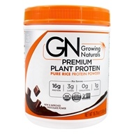 Image of Growing Naturals - Organic Rice Protein Chocolate Power - 16.8 oz.