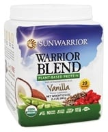 Sun Warrior - Warrior Blend Raw Protein Vanilla - 17.6 oz. by Sun Warrior