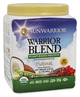 Sun Warrior - Warrior Blend Raw Protein Natural - 17.6 oz. by Sun Warrior