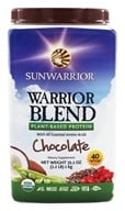 Sun Warrior - Warrior Blend Raw Protein Chocolate - 35.2 oz.