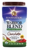 Sun Warrior - Warrior Blend Raw Protein Chocolate - 35.2 oz. by Sun Warrior