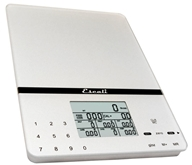 Image of Escali - Cesto Portable Digital Nutritional Scale 115NS Silver Gray