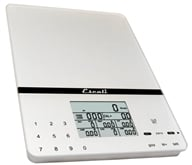 Escali - Cesto Portable Digital Nutritional Scale 115NS Silver Gray