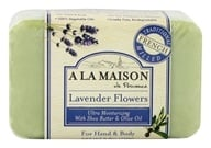 Image of A La Maison - Traditional French Milled Bar Soap Lavender Flowers - 8.8 oz.