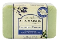 A La Maison - Traditional French Milled Bar Soap Lavender Flowers - 8.8 oz. by A La Maison