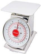 Escali - Mercado Dial Scale With Plate 6 lb Capacity DS63P by Escali