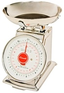 Escali - Mercado Dial Scale With Bowl 11 lb Capacity DS115B by Escali