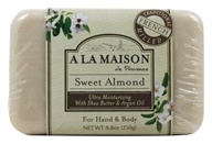 Traditional French Milled Bar Soap Sweet Almond - 8.8 oz.