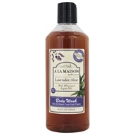 A La Maison - Traditional French Milled Bath & Shower Liquid Soap Lavender Aloe - 16.9 oz. by A La Maison