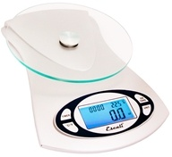 Escali - Vitra Glass Top Digital Food Scale 115G by Escali