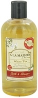 A La Maison - Traditional French Milled Bath & Shower Liquid Soap White Tea - 16.9 oz.